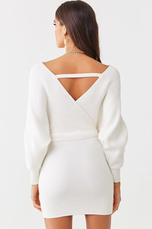 Faux Wrap Mini Dress, image 3
