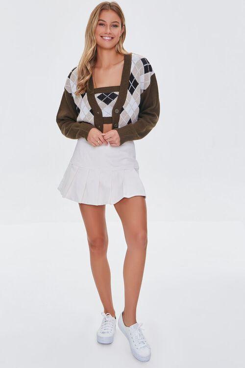 BROWN/MULTI Argyle Bandeau & Cardigan Sweater Set, image 4