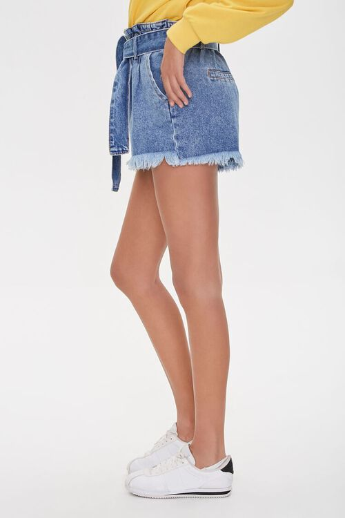 MEDIUM DENIM Paperbag Denim Shorts, image 3