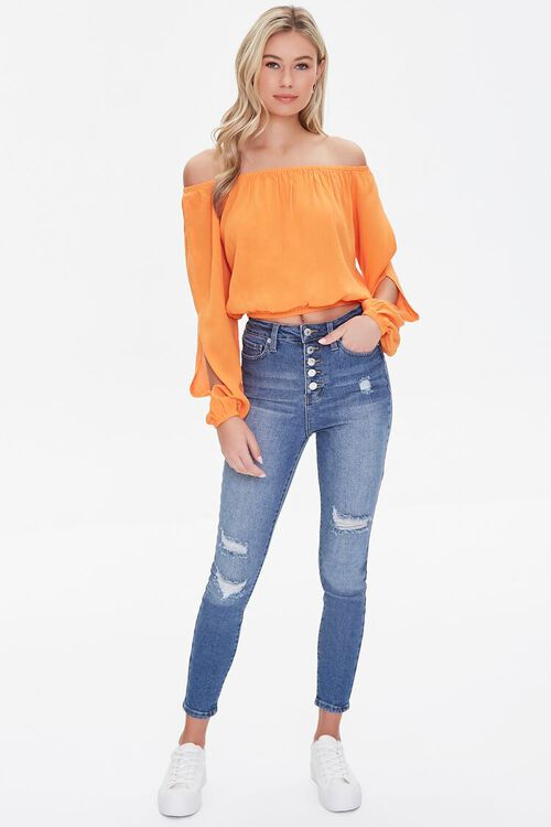 Premium High-Rise Skinny Ankle Jeans, image 1