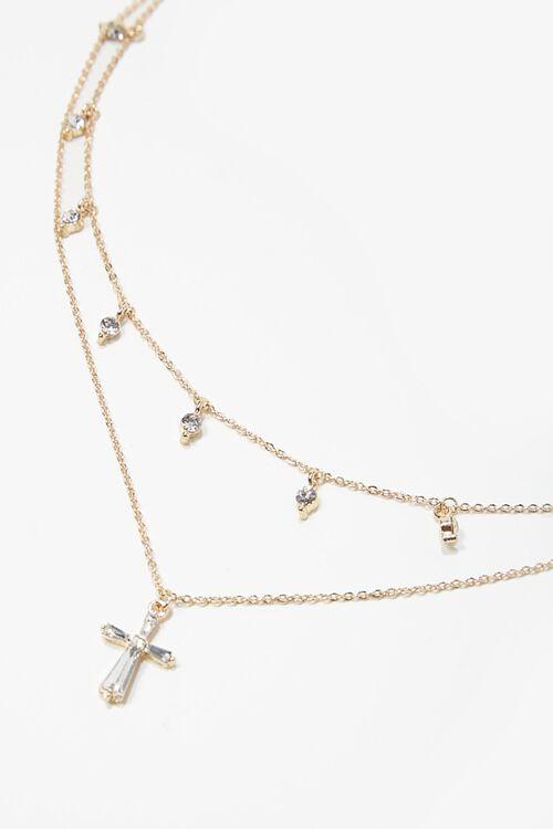 Cross Pendant Layered Necklace, image 1
