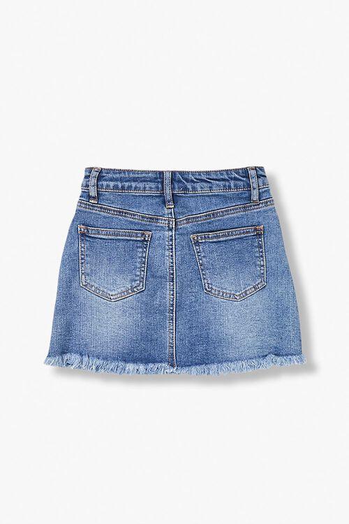 Girls Frayed Denim Skirt (Kids), image 2