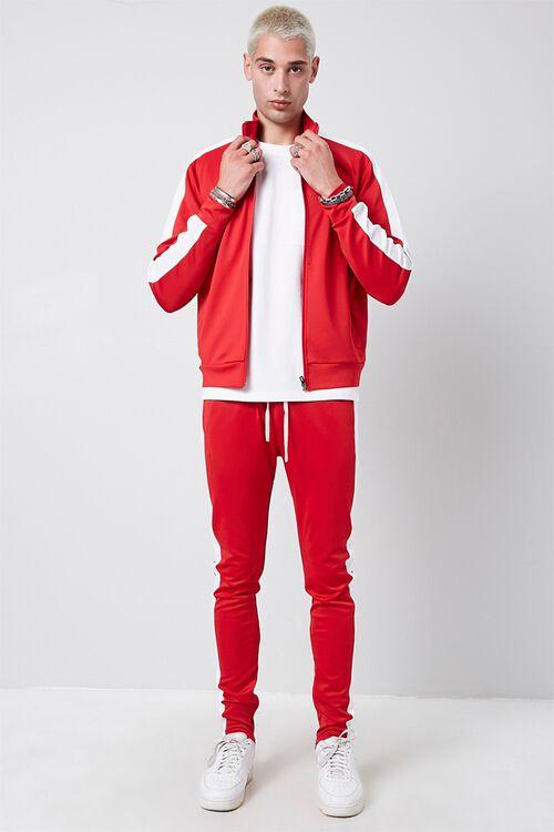 Ankle-Zip Side-Striped Sweatpants, image 5