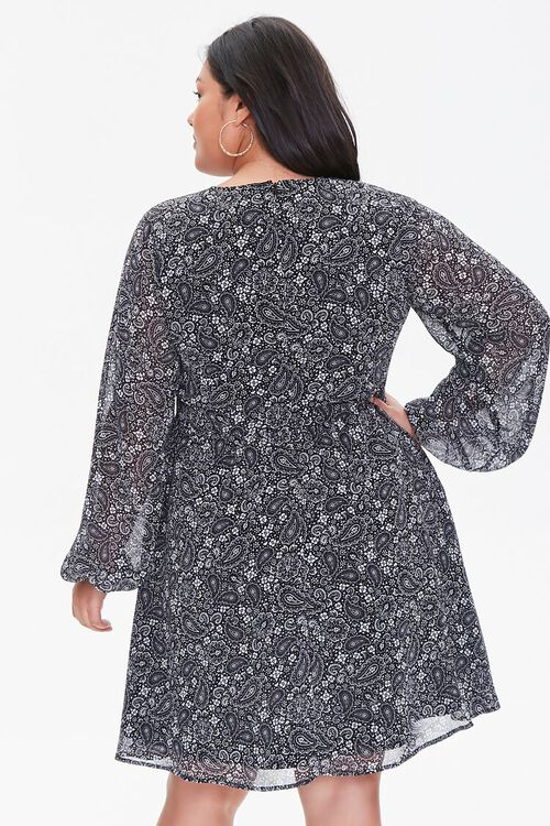 Plus Size Chiffon Paisley Dress, image 3