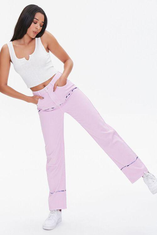 Tie-Dye Straight Jeans, image 1
