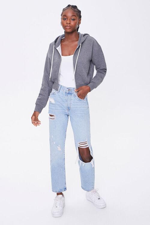 Basic Fleece Zip-Up Hoodie, image 4