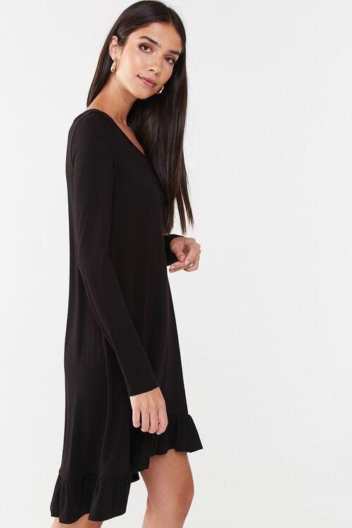 Ruffle-Hem High-Low Mini Dress, image 2