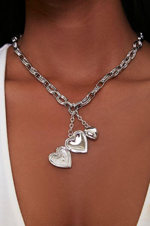 Heart Locket Pendant Necklace, image 2