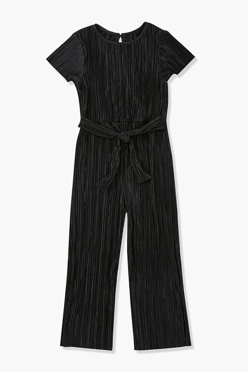 Girls Crinkled Sash-Belt Jumpsuit (Kids), image 1