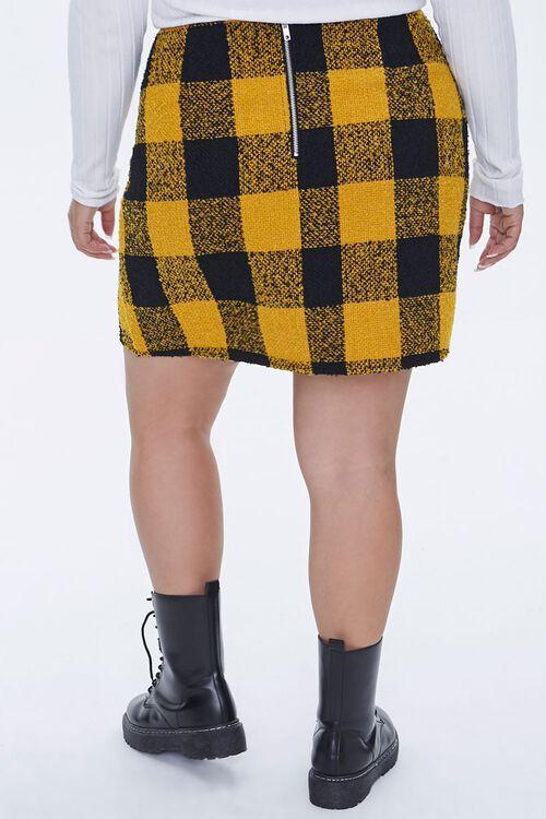 Plus Size Tweed Buffalo Plaid Skirt, image 4