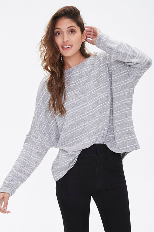 Striped Drop-Sleeve Top, image 1