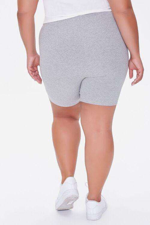 Plus Size Basic Organically Grown Cotton Biker Shorts, image 4