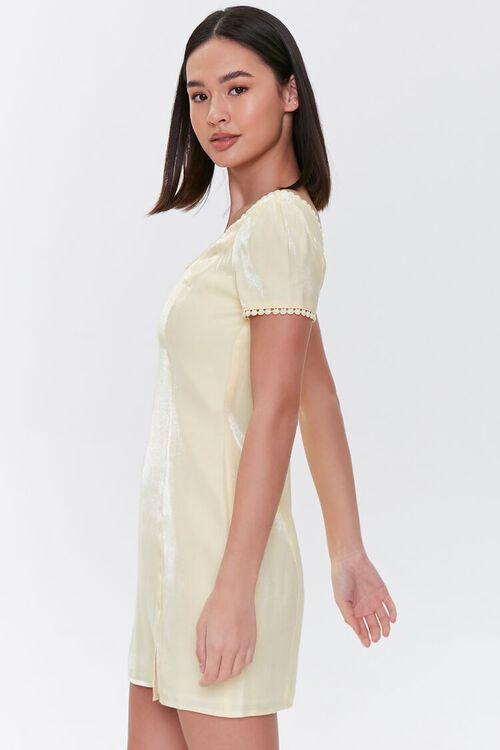 Crochet-Trim Mini Dress, image 2