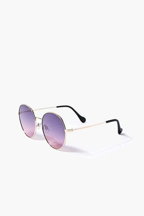 Round Ombre Metal Sunglasses, image 2