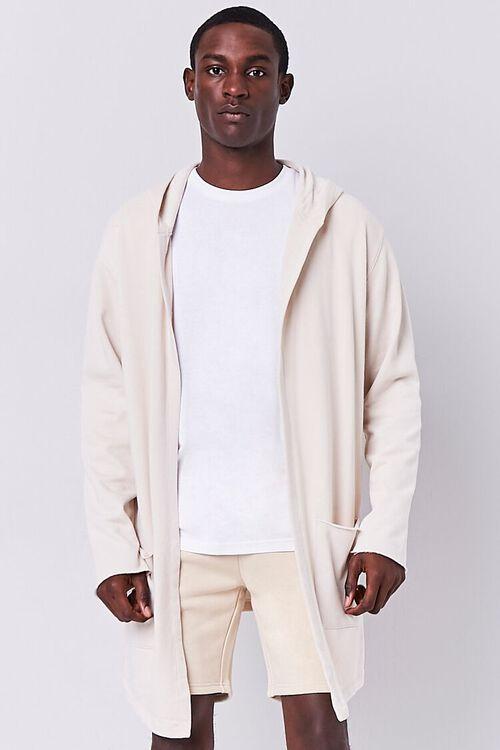 Longline Hooded Cardigan, image 1