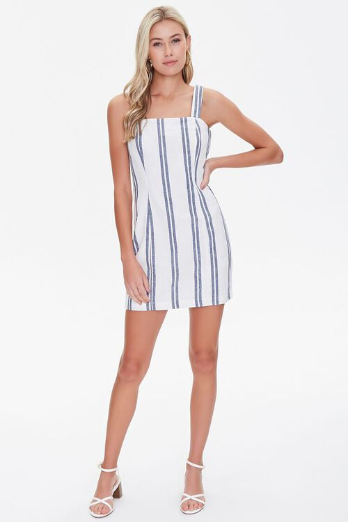 Striped Linen-Blend Dress, image 4