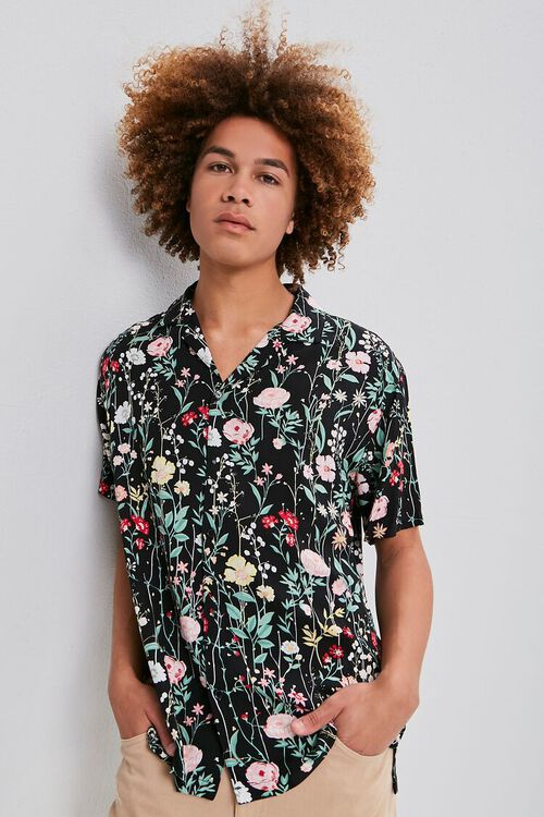 Floral Print Buttoned Shirt, image 2