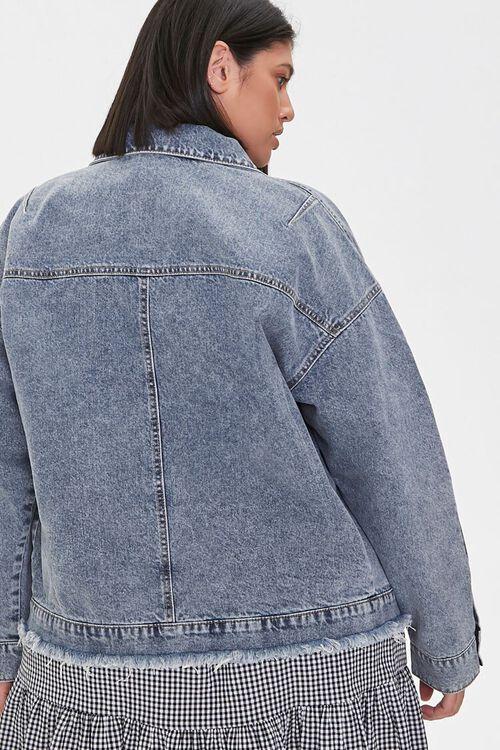 Plus Size Denim Button-Front Jacket, image 3