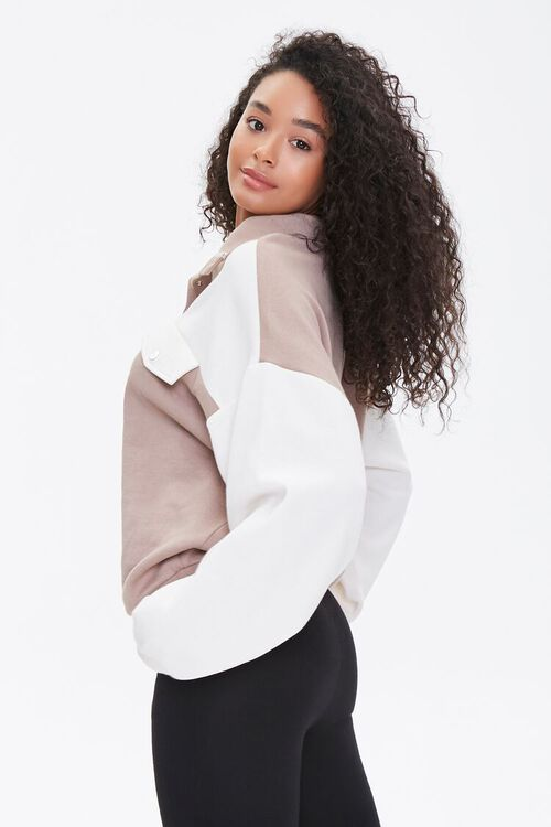 Colorblock Fleece Pullover, image 2