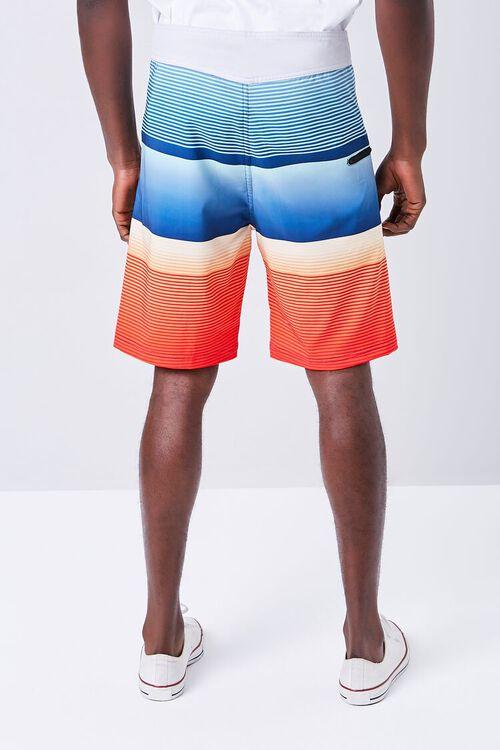 Colorblock Striped Swim Trunks, image 4