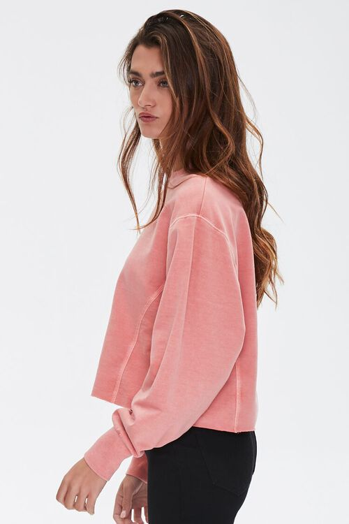 PINK French Terry Drop-Sleeve Top, image 2