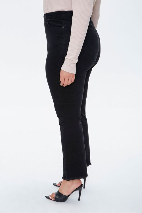 Plus Size Frayed Ankle Pants, image 3