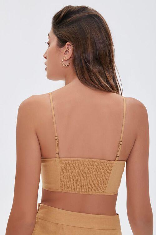 Linen-Blend Cropped Cami, image 3