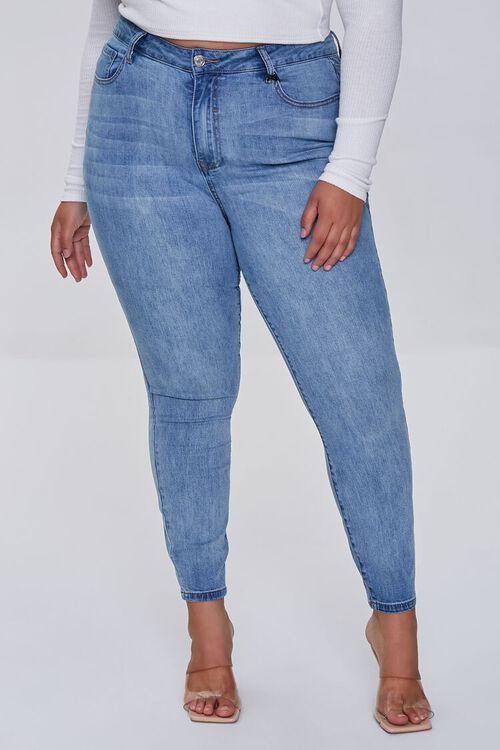 LIGHT DENIM Plus Size High-Rise Skinny Jeans, image 2