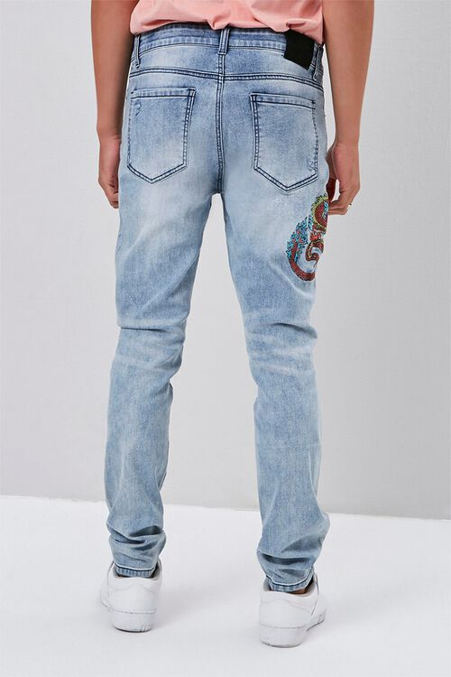 Dragon Embroidered Graphic Jeans, image 4