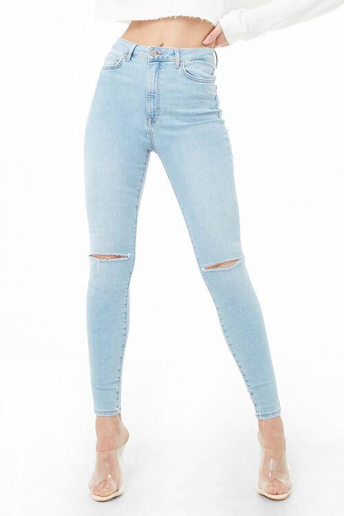 LIGHT DENIM Sculpted High-Rise Skinny Jeans, image 1