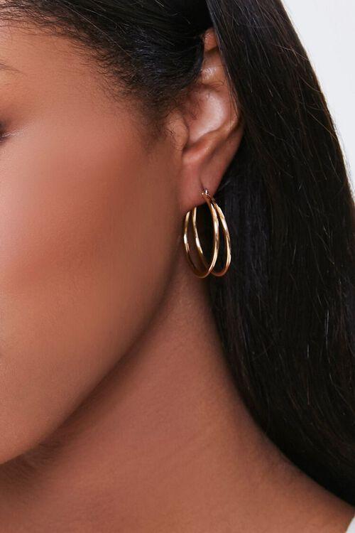 Dual Hoop Earrings, image 1