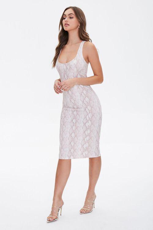 Snakeskin Print Tank Dress, image 1