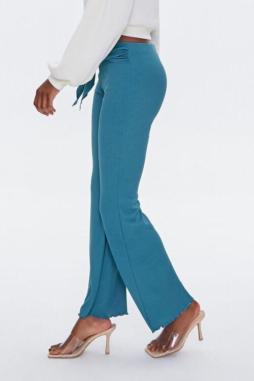 Tie-Waist Flare Pants, image 3
