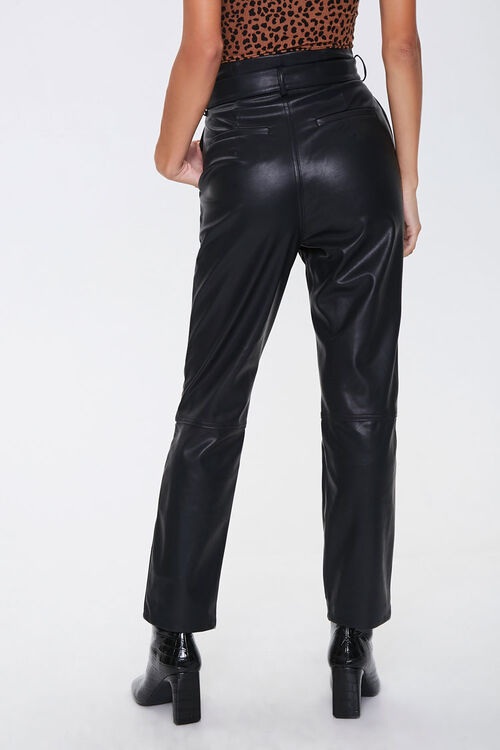 Faux Leather Straight-Leg Pants, image 4