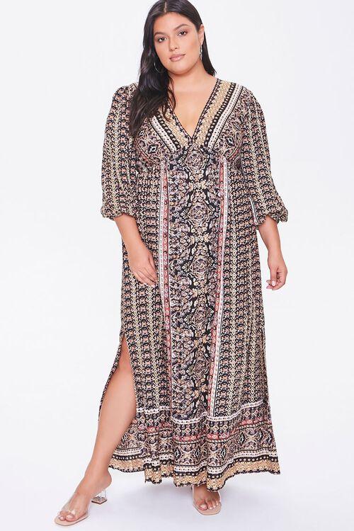 Plus Size Ornate Maxi Dress, image 1