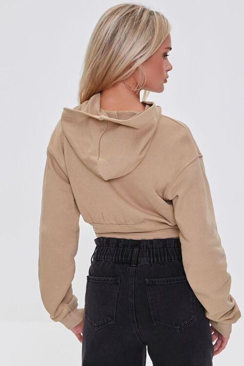 Cropped Fleece Corset Hoodie, image 3