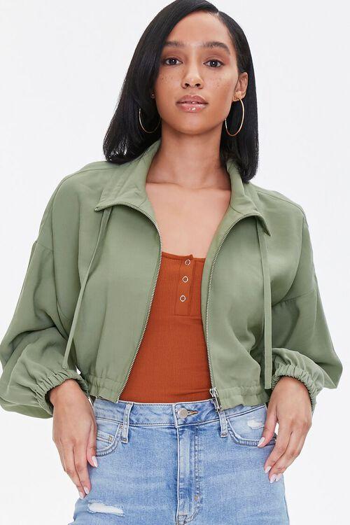 Zippered Drawstring Jacket, image 1