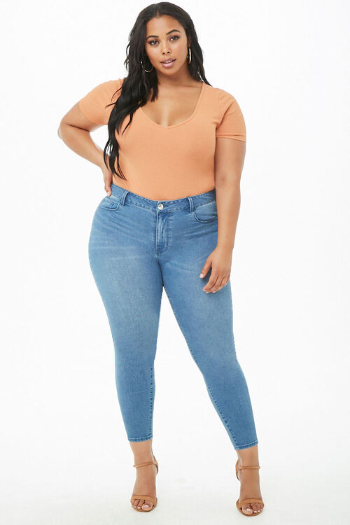 Plus Size Sculpted Mid-Rise Skinny Jeans, image 5