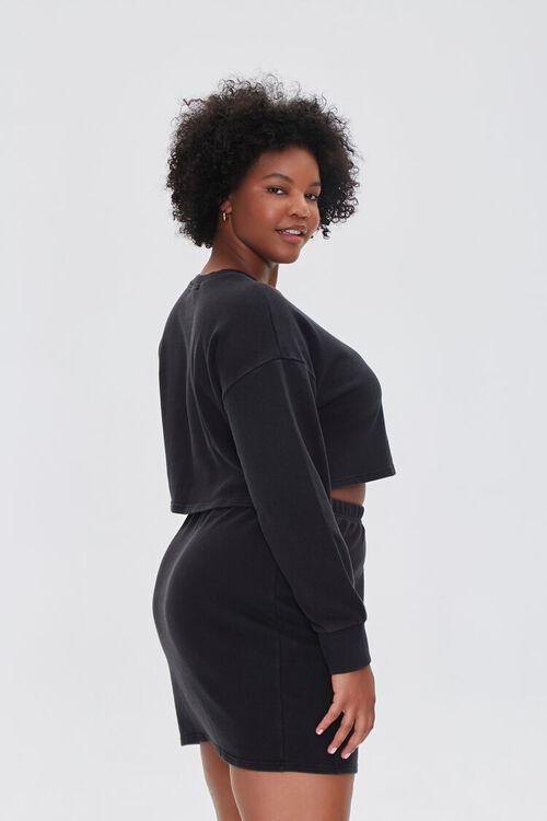 Plus Size Crop Top & Skirt Set, image 2