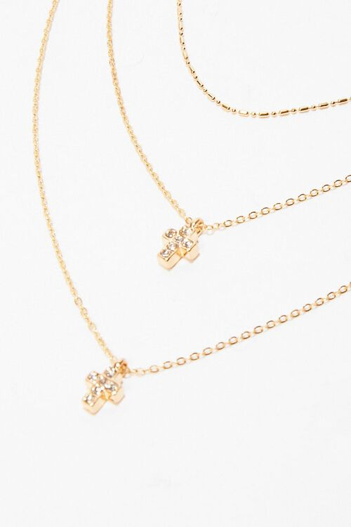 Cross Charm Layered Necklace, image 3