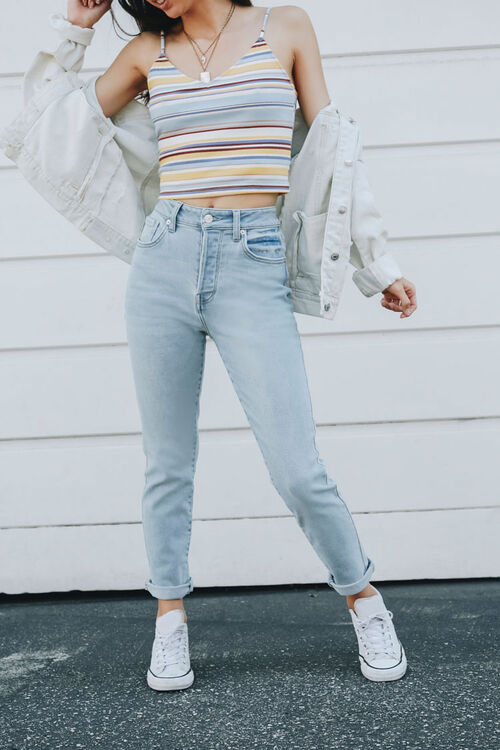 Button-Fly Mom Jeans, image 1
