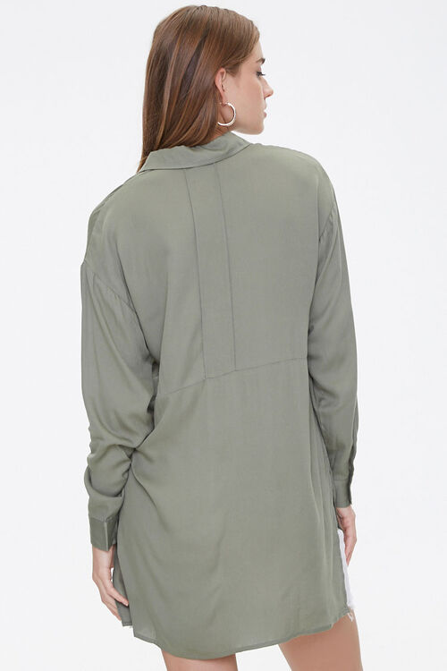 Vented High-Low Longline Shirt, image 3