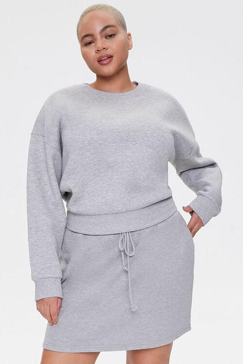 Plus Size French Terry Mini Skirt, image 1