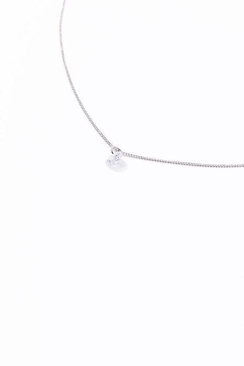 CZ Stone Charm Necklace, image 2