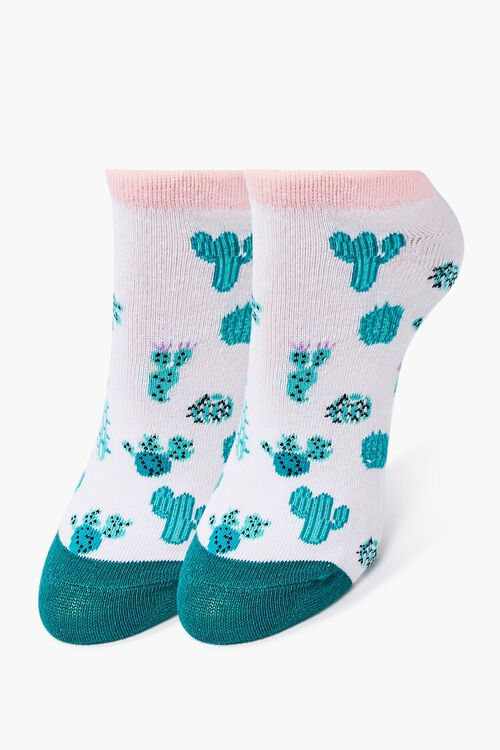 Cacti Print Ankle Socks, image 1
