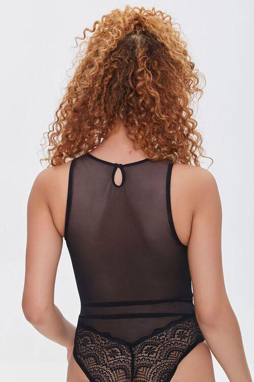 Lace-Trim Mesh Bodysuit, image 3