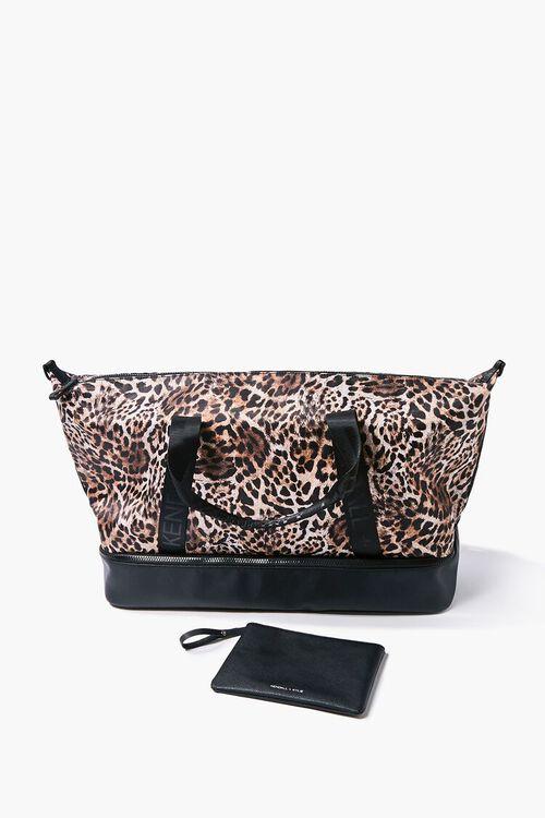 Kendall & Kylie Leopard Print Travel Bag, image 1