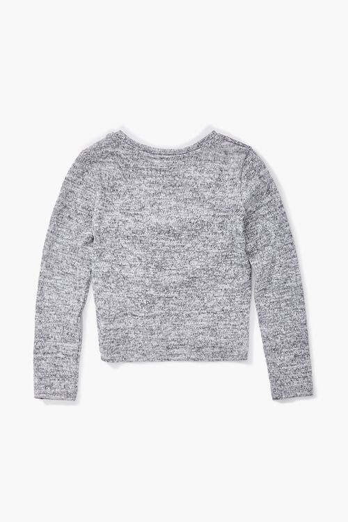 Girls Ruched Long Sleeve Top (Kids), image 2