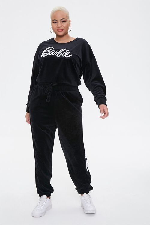 Plus Size Velour Barbie™ Joggers, image 4