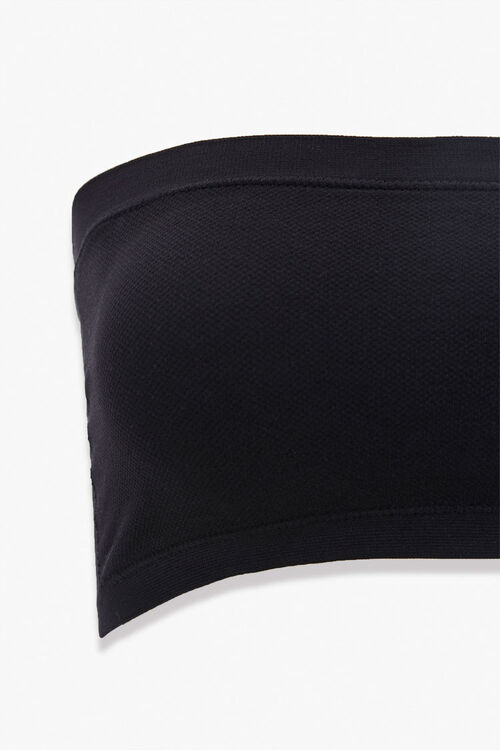 Seamless Textured Knit Bandeau, image 3